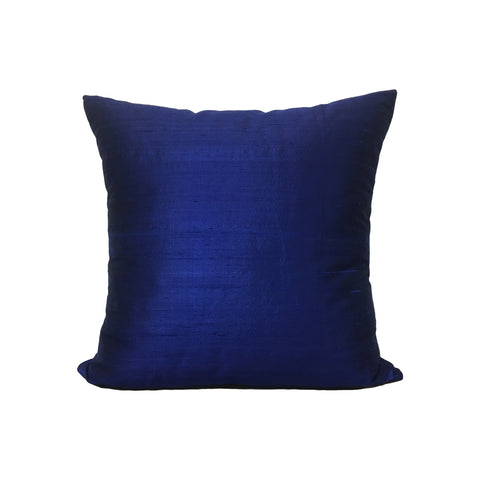 Dupioni Silk Cobalt Throw Pillow 17x17""