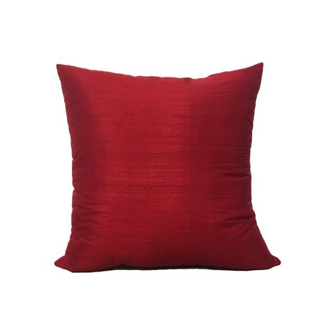 Dupioni Silk Cranberry Zing Throw Pillow 17x17""