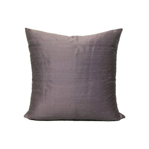 Dupioni Silk Eggplant Throw Pillow 17x17""