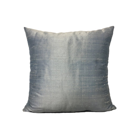 Dupioni Silk Ice Blue Throw Pillow 17x17""