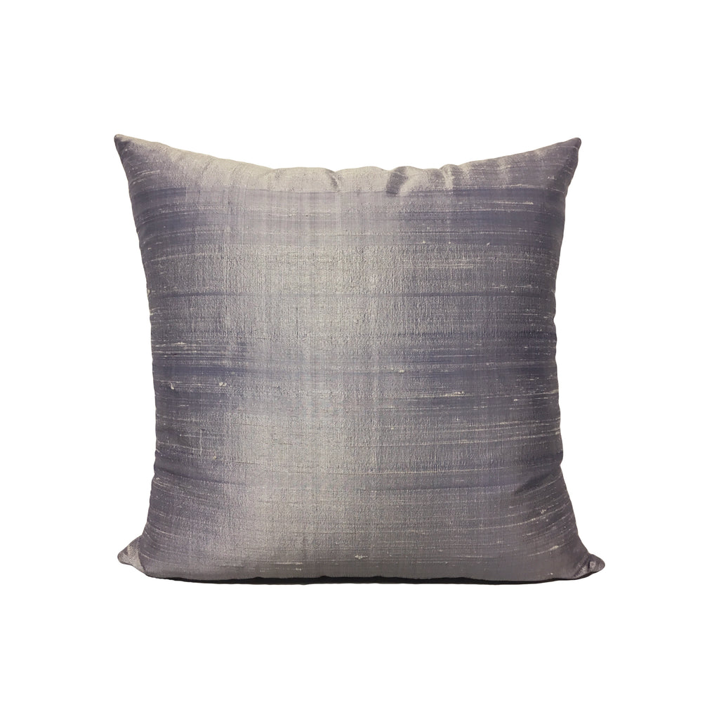Dupioni Silk Lilac Throw Pillow 17x17""