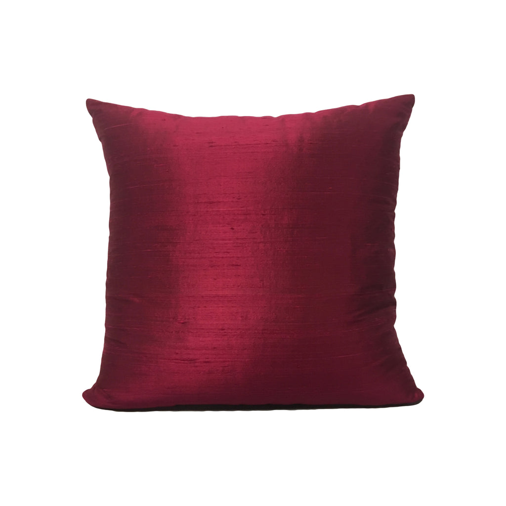 Dupioni Silk Melodrama Throw Pillow 17x17""
