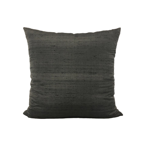 Dupioni Silk Negative Throw Pillow 17x17""