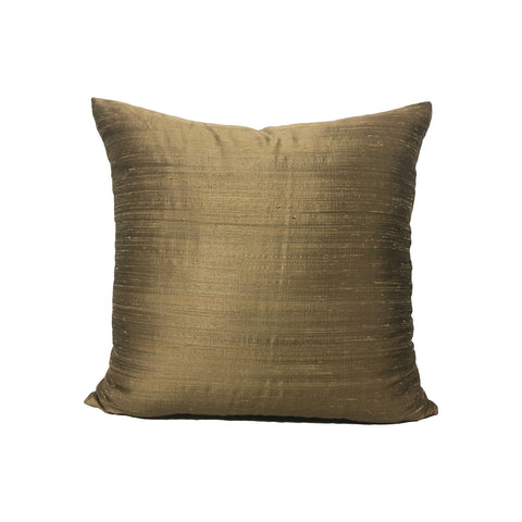 Dupioni Silk Siberian Gold Throw Pillow 17x17""