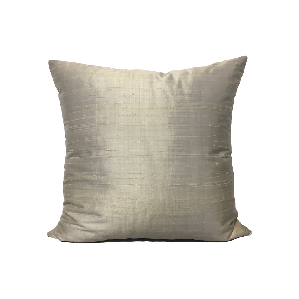 Dupioni Silk Vapour Throw Pillow 17x17""