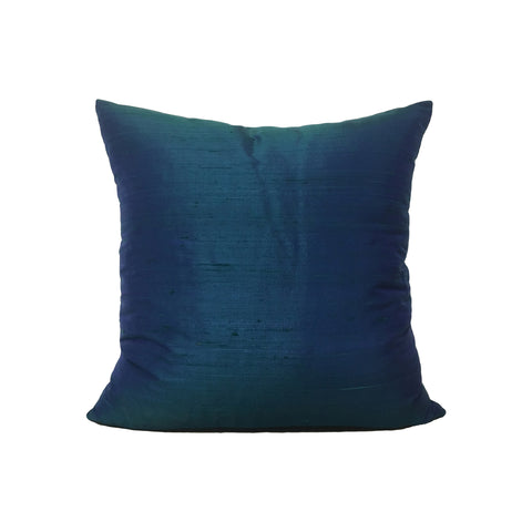 Dupioni Silk Vineyard Haven Throw Pillow 17x17""