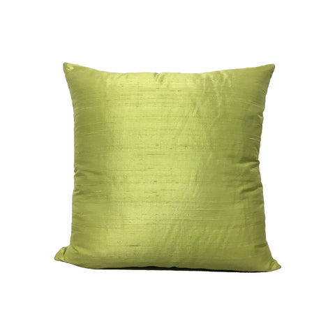 Dupioni Silk Wasabi Throw Pillow 17x17""
