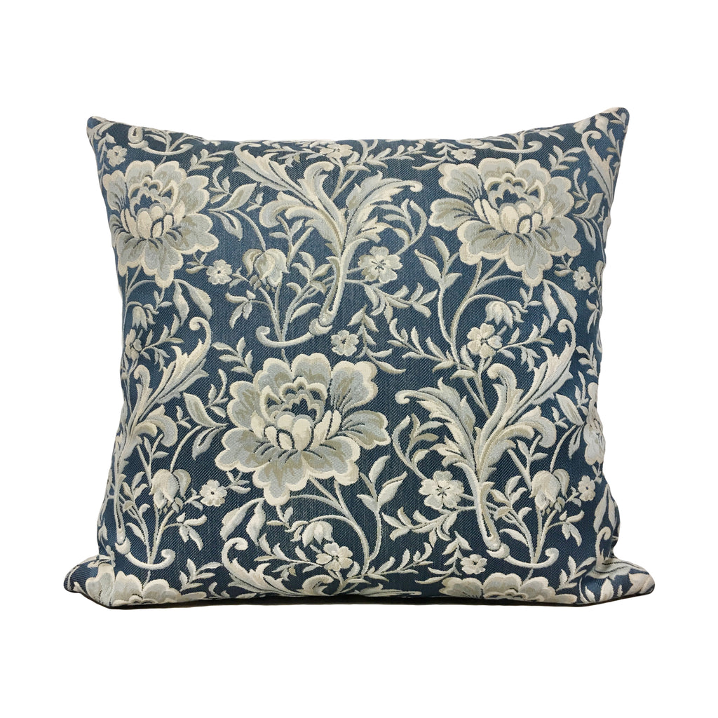 Dynasty Lapis Blue Throw Pillow 20x20""
