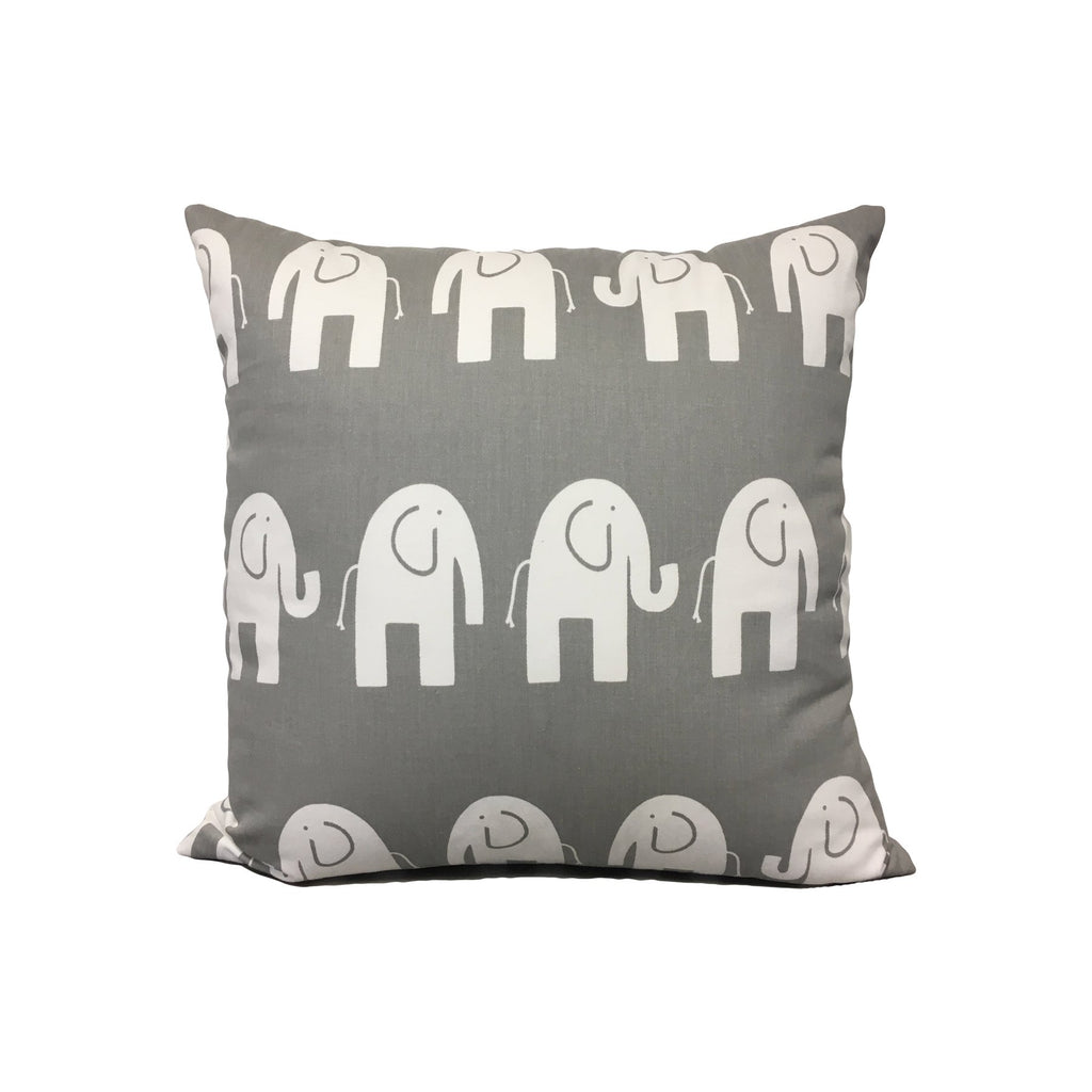 Ele Grey/White Throw Pillow 17x17""