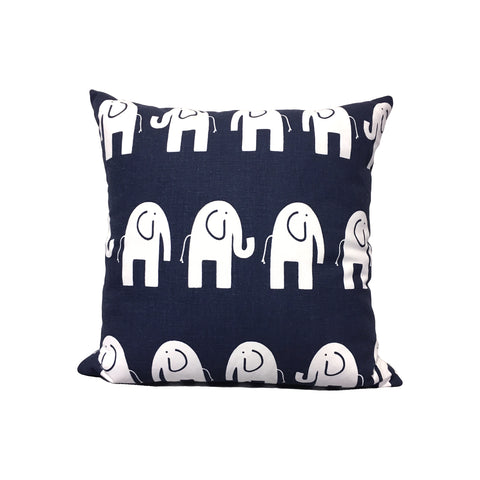 Ele Navy Throw Pillow 17x17""