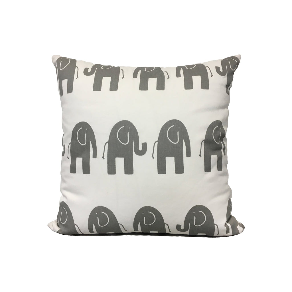 Ele White/Grey Throw Pillow 17x17""