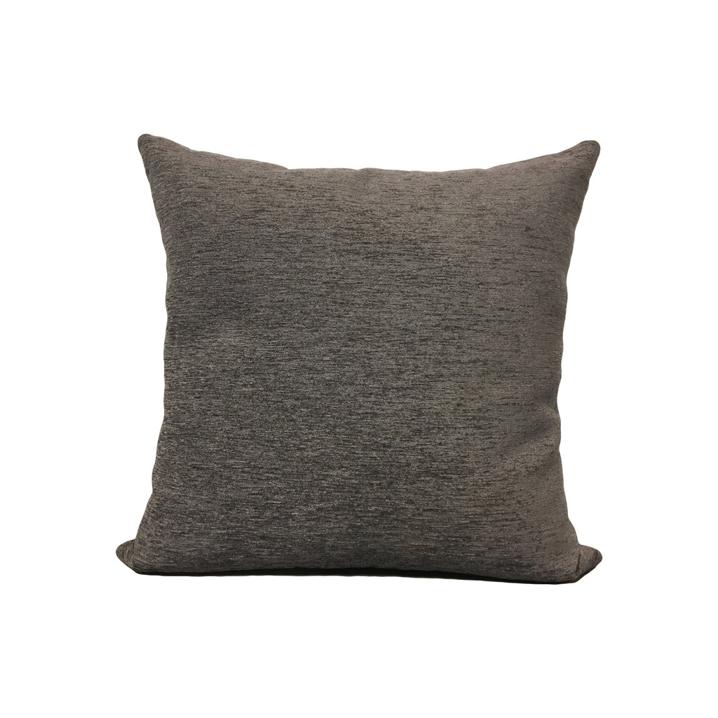 Elizabeth Charcoal Throw Pillow 17x17""
