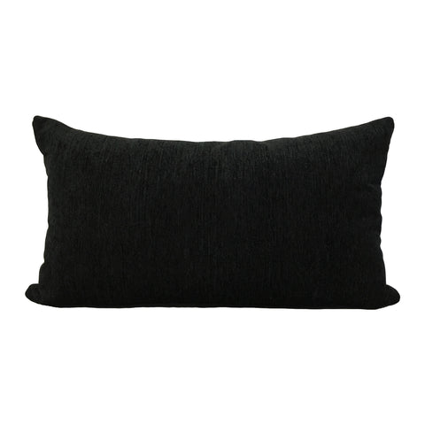 Elizabeth Ebony Lumbar Pillow 12x22""