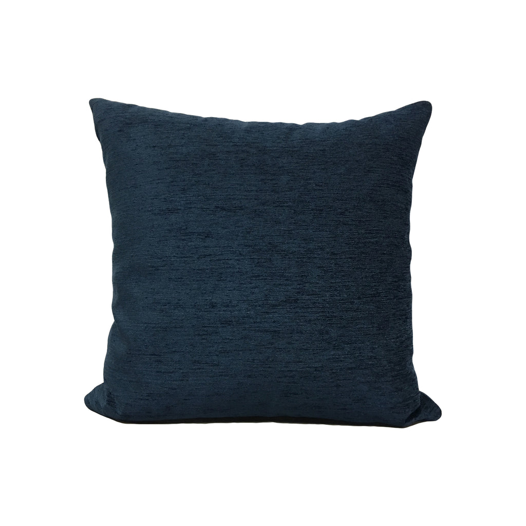 Elizabeth Navy Throw Pillow 17x17""
