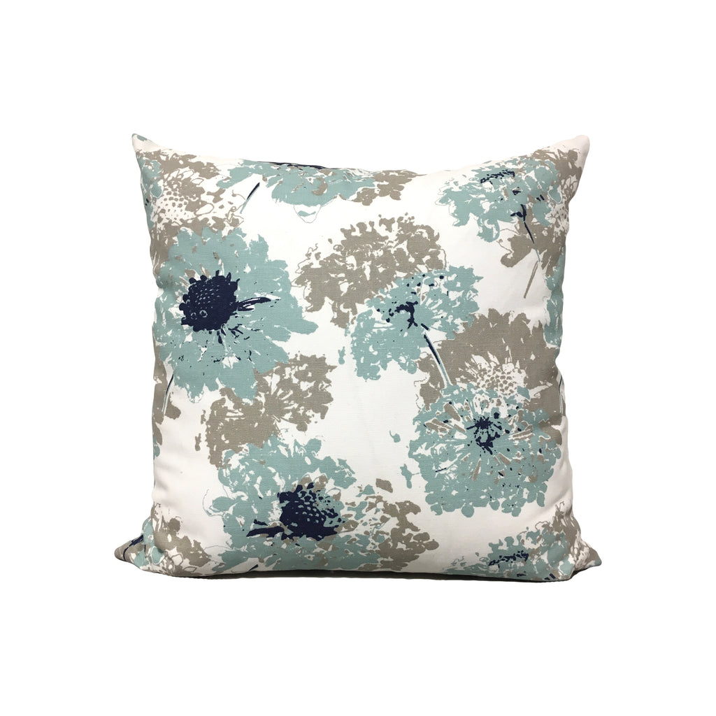 Fairy Spa Blue Throw Pillow 17x17""