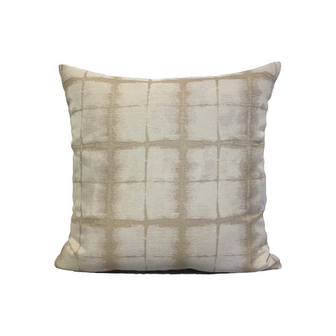 Famous Almond Beige Throw Pillow 17x17""