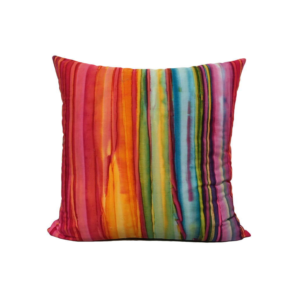 Fantasia Batik Throw Pillow 17x17""