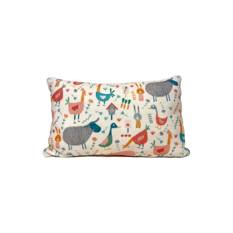 Farm Animals Fleece Pillow 8x13""