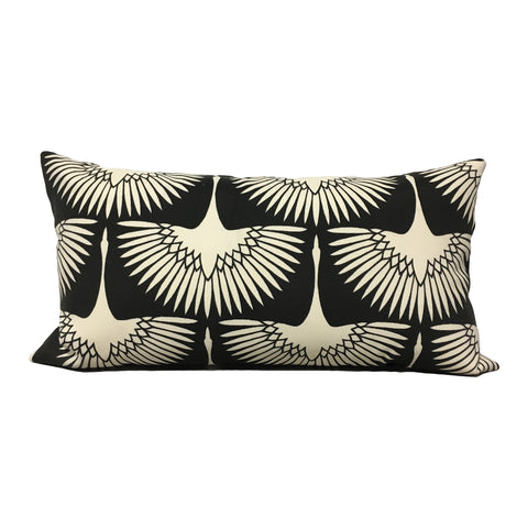 Flock Midnight Lumbar Pillow 12x22""