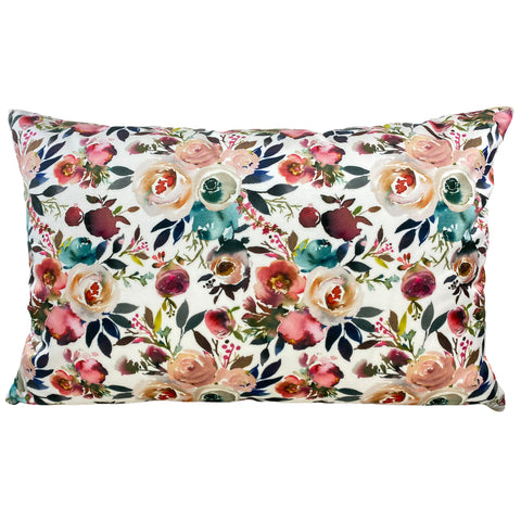 Floral Potpourri Throw Pillow 17x25""