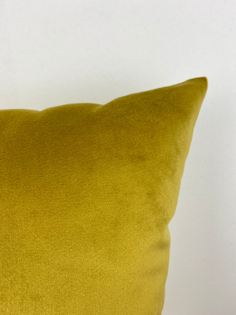 Franklin Velvet Brass Throw Pillow 17x17""