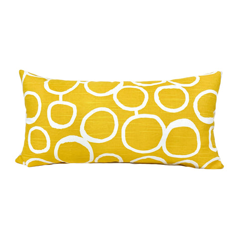 Freehand Corn Yellow Lumbar Pillow 12x22""