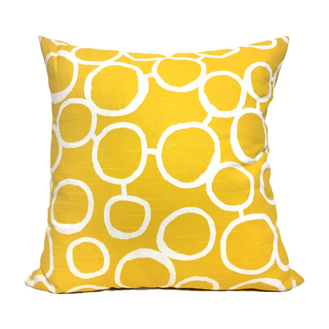 Freehand Corn Yellow Throw Pillow 20x20""