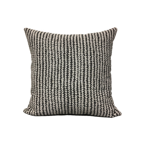 Gibson Charcoal Throw Pillow 17x17""