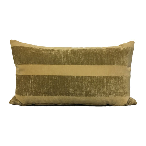 Goldenrod Stripe Lumbar Pillow 12x22""