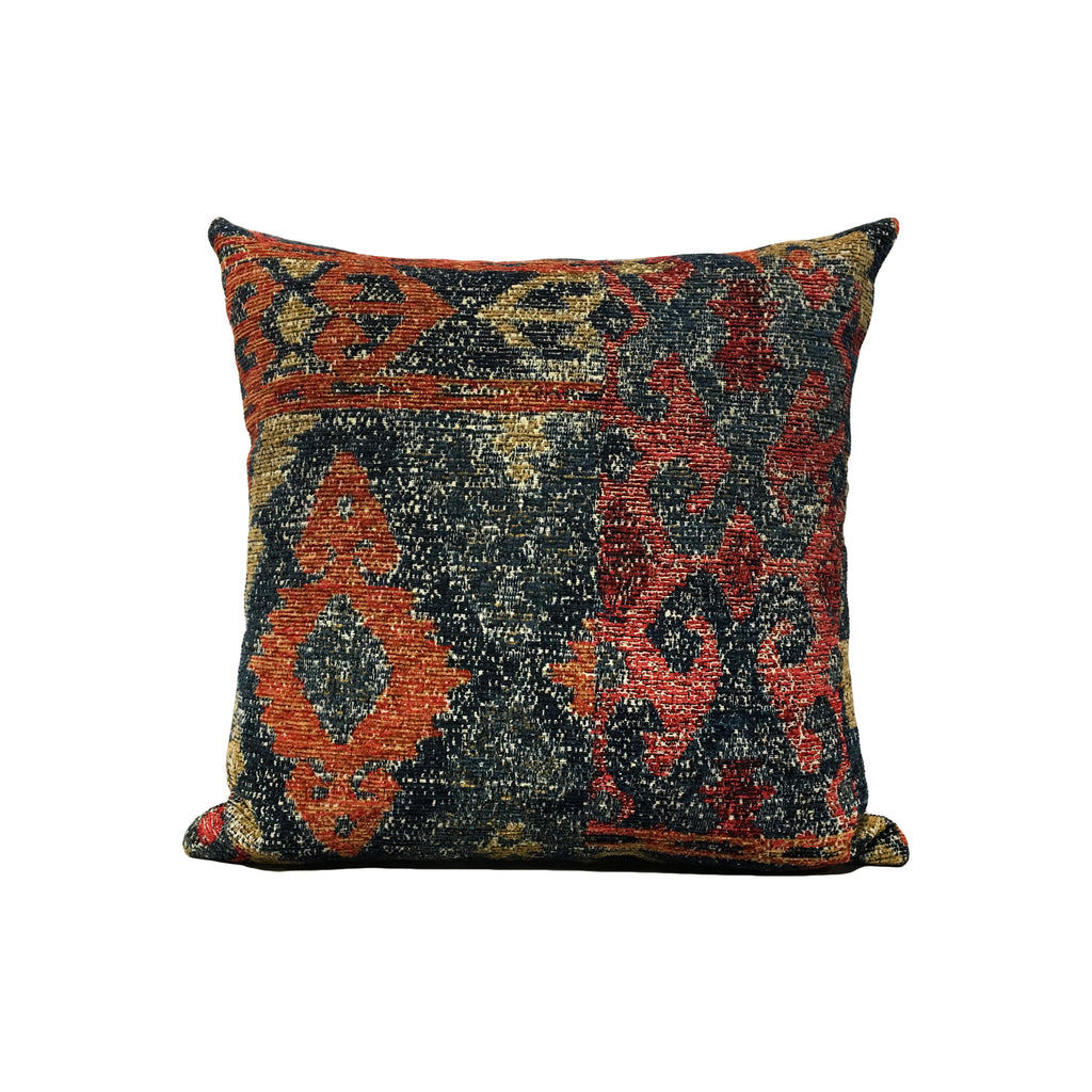 Golding Orange Navy Throw Pillow 17x17