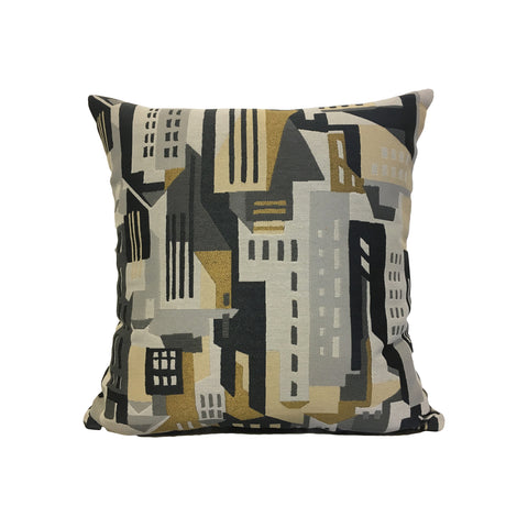 Gotham Metal Throw Pillow 17x17""