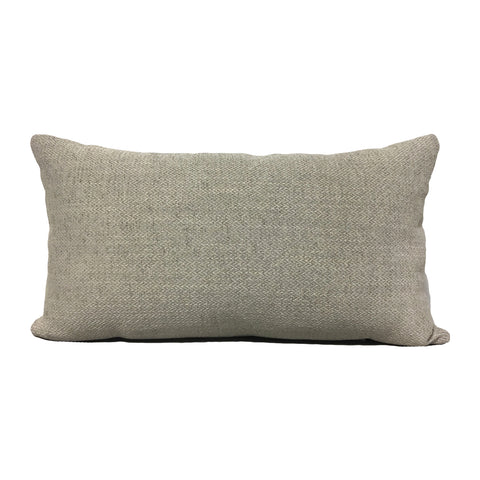 Harley Limestone Grey Lumbar Pillow 12x22""