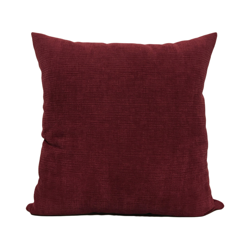 Heavenly Burgundy Throw Pillow 20x20""