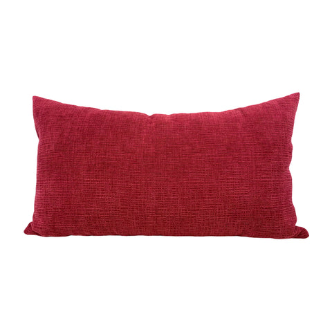 Heavenly Mulberry Red Lumbar Pillow 12x22""