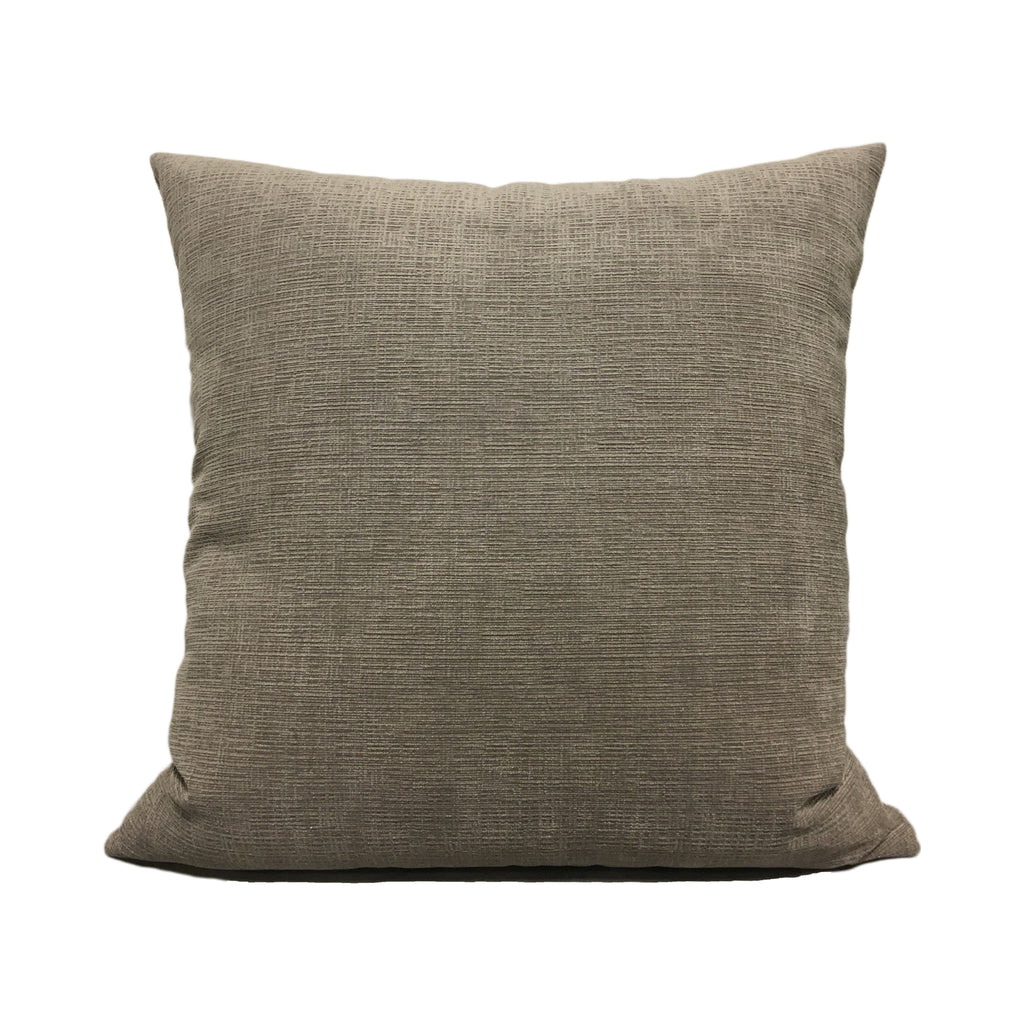 Heavenly Pewter Grey Throw Pillow 20x20""