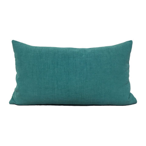 Heavenly Teal Lumbar Pillow 12x22""