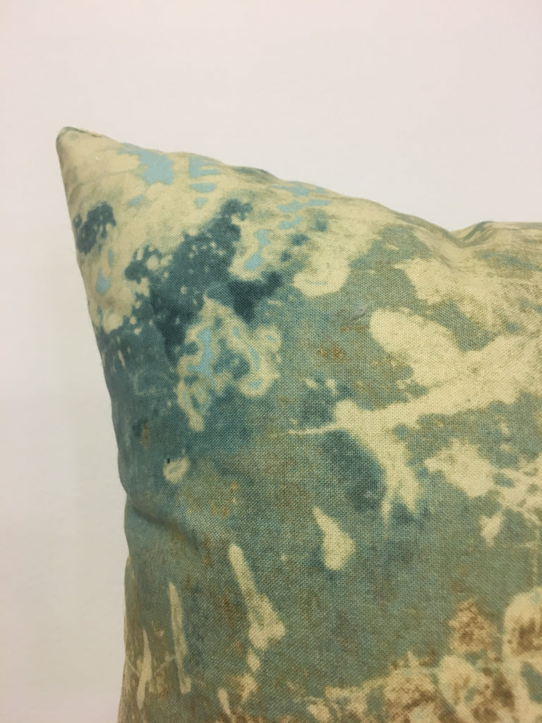 Abalone Sea Batik Throw Pillow 20x20""