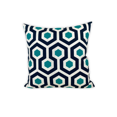 Magna Oxford Honeycomb Throw Pillow 17x17""