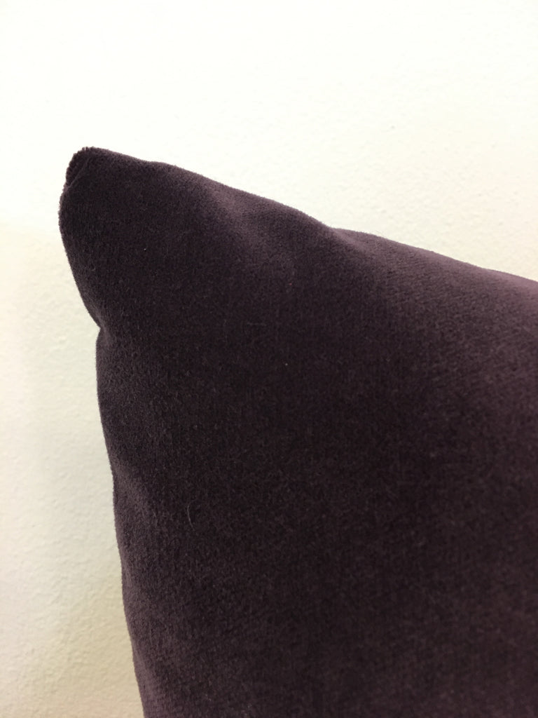 Luscious Velvet Deep Purple Lumbar Pillow 12x22""