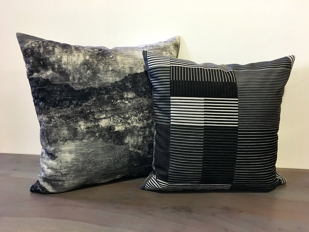 Panorama Storm Grey Throw Pillow 20x20""