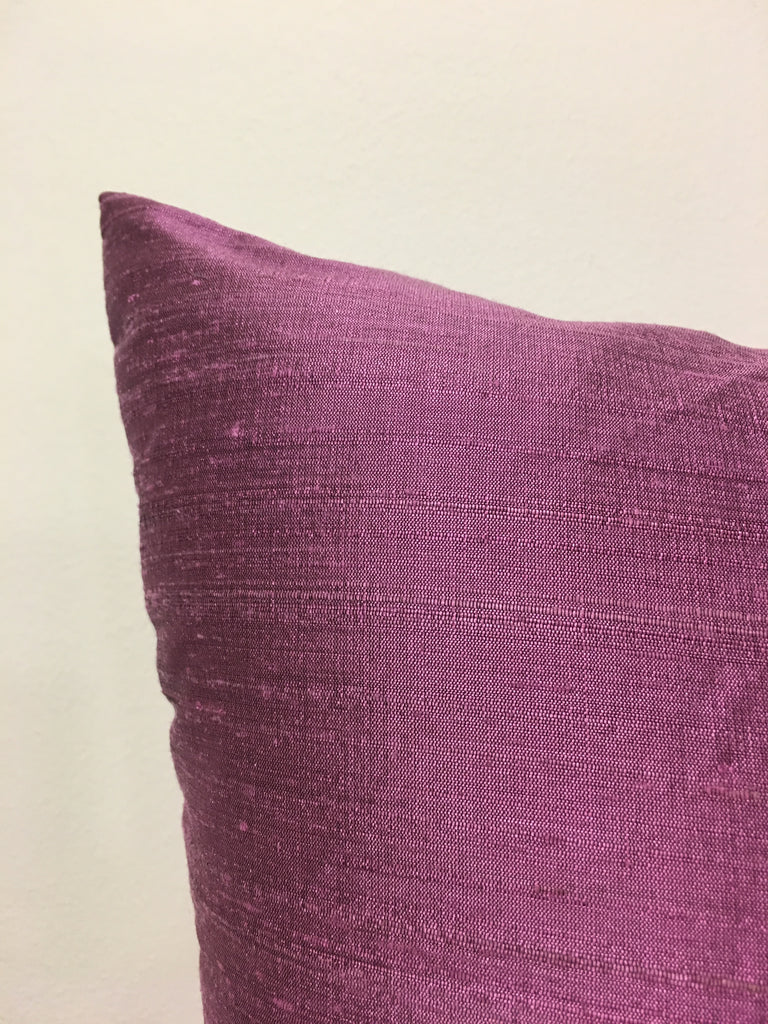 Dupioni Silk Amethyst Throw Pillow 17x17""