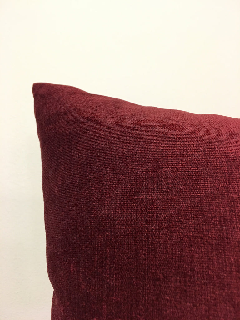 Royal Red Wine Euro Pillow 25x25""
