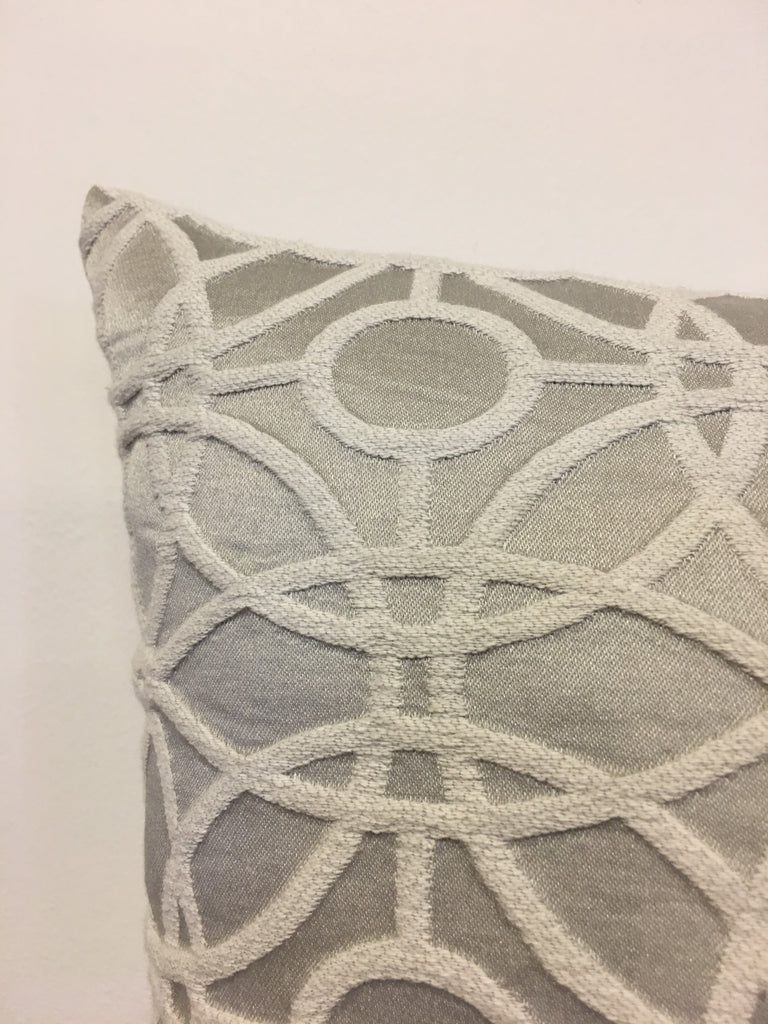 Cathedral Silver Throw Pillow 17x17""