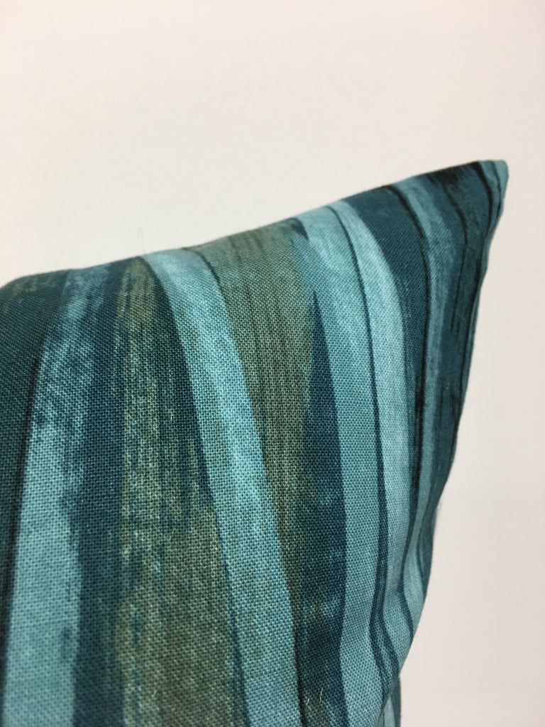 Ripple Lake Teal Throw Pillow 17x17""