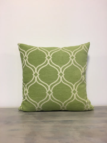 Oasis Lime Green Geometric Pillow 17x17""