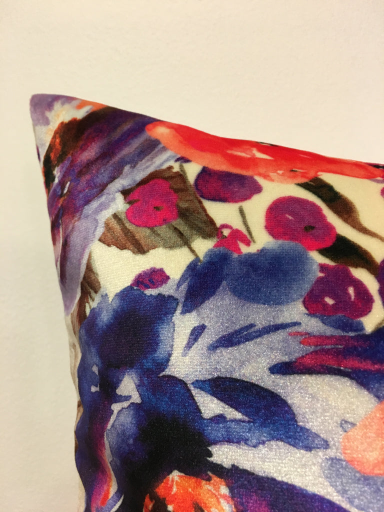 Fall Floral Throw Pillow 17x17""