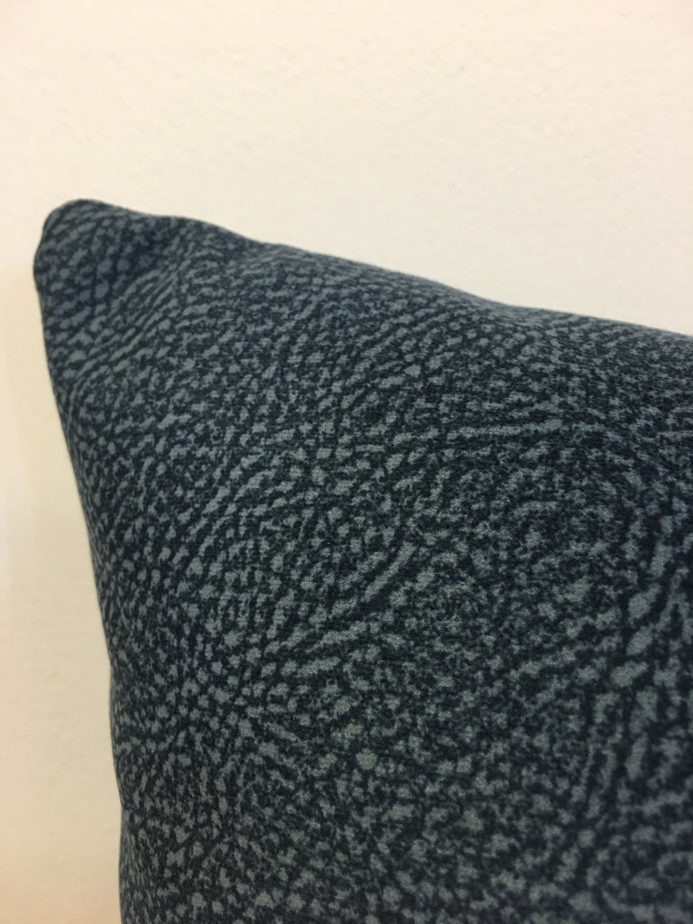 Teal Mottle Lumbar Pillow 12x22""