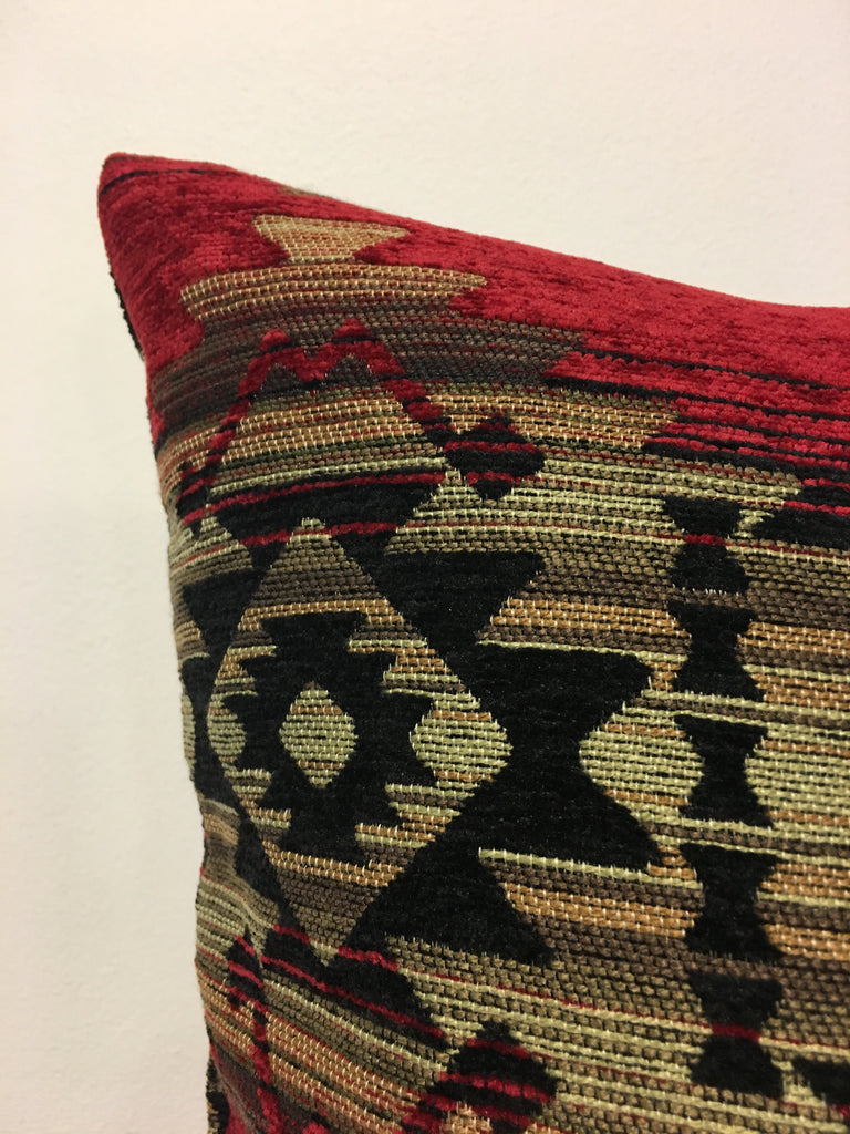 Southwest Navajo Fire Throw Pillow 20x20""