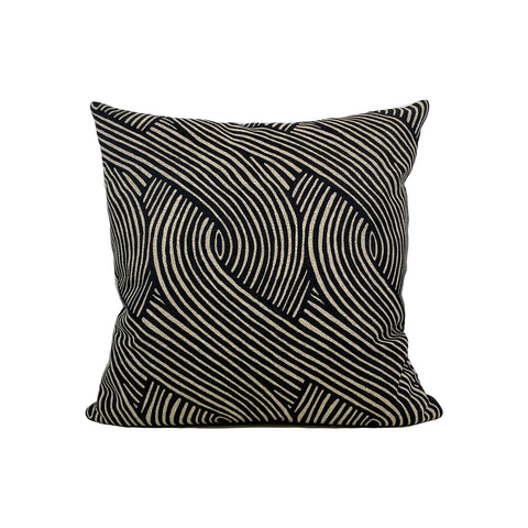 Imarie Ebony Weave Throw Pillow 17x17""