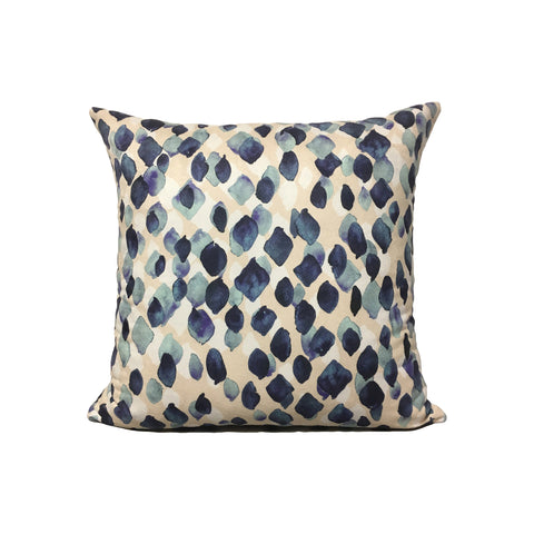 Indigo Rain Throw Pillow 17x17""